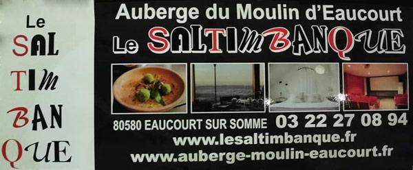 Auberge restaurant du Moulin d'Eaucourt en Vallée de Somme - notre partenaire de confiance