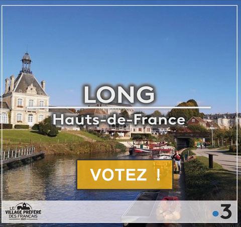 Long représente Haut et Fort la Région Hauts-de-France à l'émission - Le Village préféré des français - Votez pour Long !